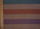 Tan with Orange, Purple, and Teal Stripes