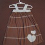Brown and Blue with Heart Applique