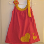 Hot Pink and Yellow with Applique (matching bow shown)