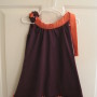 Plum and Orange with 1 Ruffle (matching bow shown)
