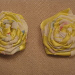 White Floral with Yellow Ribbon