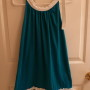 Turquoise and White with 2 Ruffles
