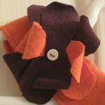 Plum and Orange Bow