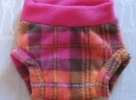Hot Pink waist with Neon Orange and Pink Plaid