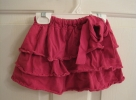Hot Pink T-shirt skirt with Lettuce Edge Hem
