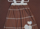 T-shirt dress with tank straps and heart applique