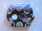 Lavender waist with Dots on Black