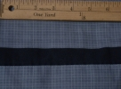 Slate Blue Checks with Navy Trim